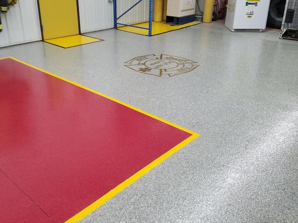 concrete floor coating for local fire department